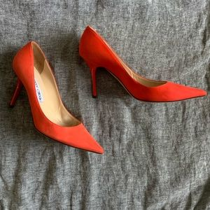 Authentic Jimmy Choo pointed toe suede stilettos